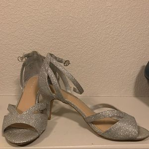 Beautiful silver sparkly heels from Katie Kelly